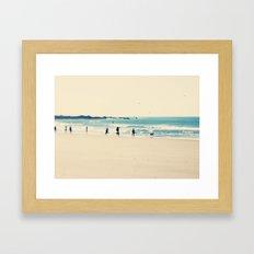 beach sunday Framed Art Print