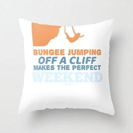 bungee Jumping Throw Pillow