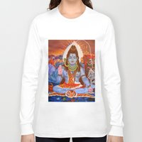 shiva Long Sleeve T-shirts featuring Shiva by Antonimo-discipulosinmaestro