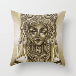 Lady Cthulhu Throw Pillow