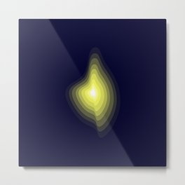 Geometric light glow Metal Print