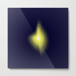 Geometric light glow Metal Print