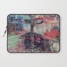 Totem Cabin Abstract - Multi Laptop Sleeve