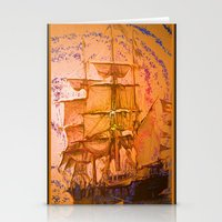 pirate ship Stationery Cards featuring pirate ship by Vector Art