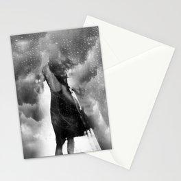 dans le vent et la pluie Stationery Cards