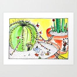 Travelling Postcard #1 - If you look closer ... Art Print