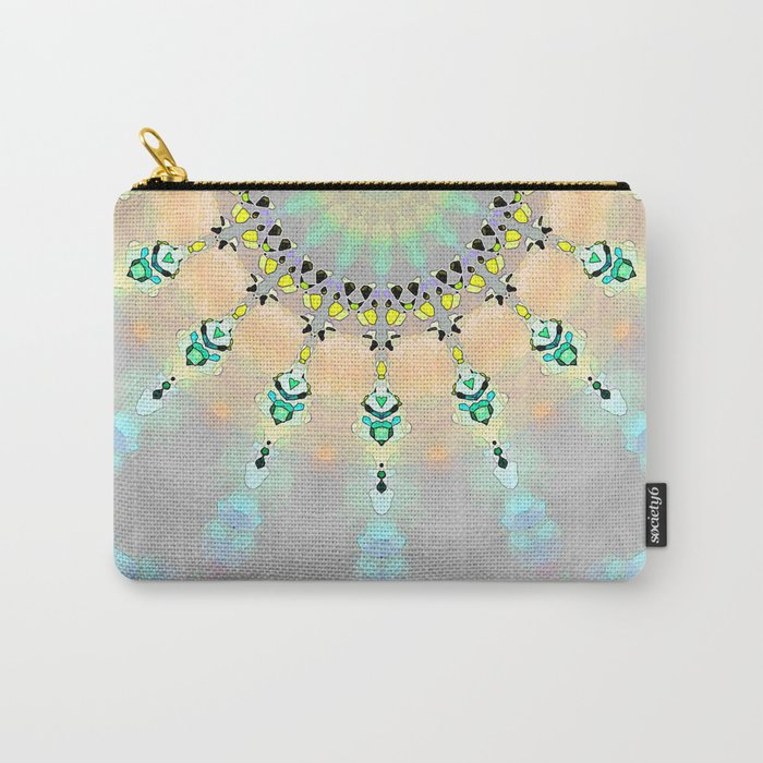 Abstract Sunshine Mosaic Carry-All Pouch