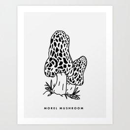Morel Mushroom Art Print