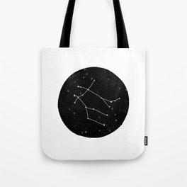 Gemini zodiac constellations astrology star gazer black and white minimalist Tote Bag