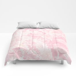 Vintage blush pink baby yellow roses flowers Comforters