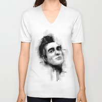 smiths V-neck T-shirts featuring Smiths  by Mr Skillmatik