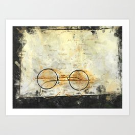 Father's Glasses Art Print