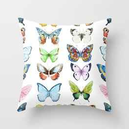 Butterfly Pattern 05 Throw Pillow