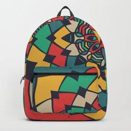 Color full bloom mandala Backpack