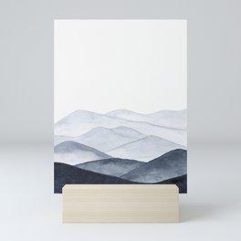 Watercolor Mountains Mini Art Print