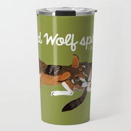 Red Wolf Spirit #2 Travel Mug