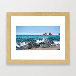 wedded rocks at Futamigaura beach Japan Framed Art Print