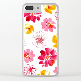 Spring Flower Medley Clear iPhone Case