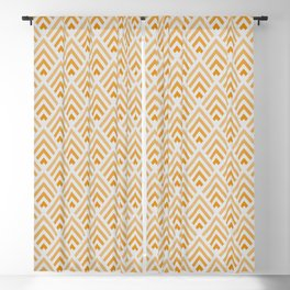 Shades of Vivid Orange / Chevron Blackout Curtain