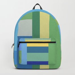Abstract Blue Mint Green Geometry Backpack