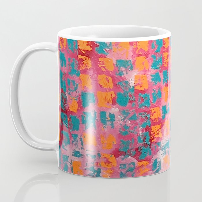 Abstract - Tickled Pink Coffee Mug