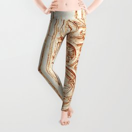 carved stonework Leggings