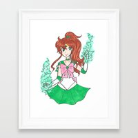 sailor jupiter Framed Art Prints featuring Sailor Jupiter by StarShineSoldier