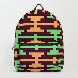 Native Aztec Dumbell Pattern Backpack