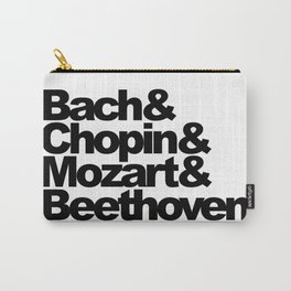 Bach and Chopin and Mozart and Beethoven Carry-All Pouch