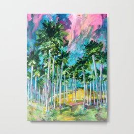Field of Palms Metal Print