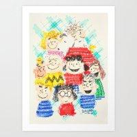 sesame street Art Prints featuring Sesame Street by Cloakwork