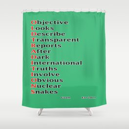 Mnemonic Shower Curtain