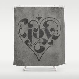 Joy Hand Lettering Shower Curtain
