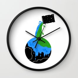 RECYCLE EARTH Wall Clock