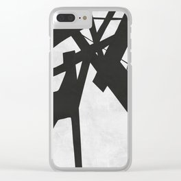Black Expressionism XVIII Clear iPhone Case