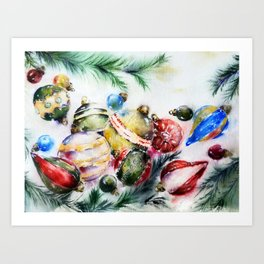Xmas decor Art Print