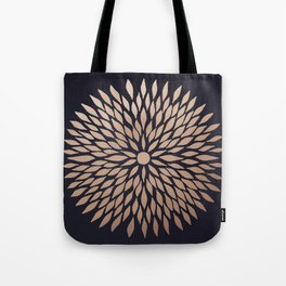 Rose Gold Flower Tote Bag