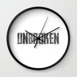 Unbroken - Surpass Your Limits Wall Clock