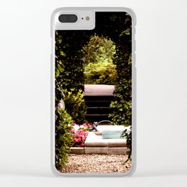 Secret Garden with Frog Prince Fountain Clear iPhone Case