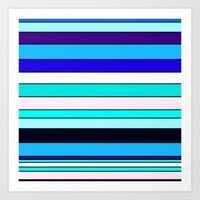 stripe Art Prints featuring Stripe by Mishu & Casco