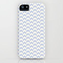 Light Blue Arrow Chevron Pattern iPhone Case
