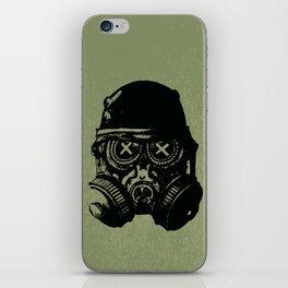 Gas mask skull iPhone Skin