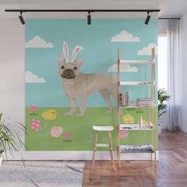 French Bulldog easter spring dog breed gifts pure breed frenchies portrait Wall Mural