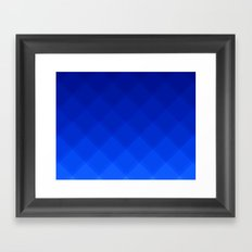 Blueberry Tile Pattern Framed Art Print