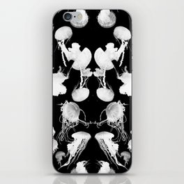 Black and White Jellyfish iPhone Skin