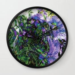 Abstracted Purple Petunias Wall Clock