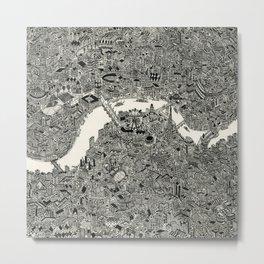 London map print Metal Print