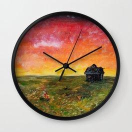 Fire Sunset Wall Clock