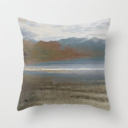 Yet another lake & mountain landscape | 1 Throw Pillow