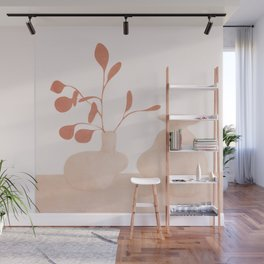 Minimal Branches and Vases Wall Mural